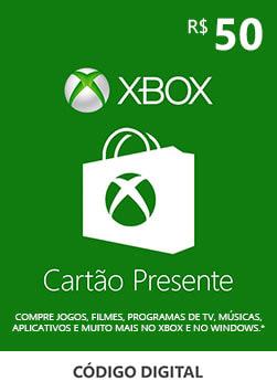 Xbox - Cartao Presente Digital 50 Reais