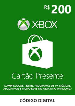 Xbox - Cartao Presente Digital 200 Reais