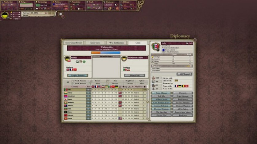 Screenshot 5 - Victoria II: Heart of Darkness