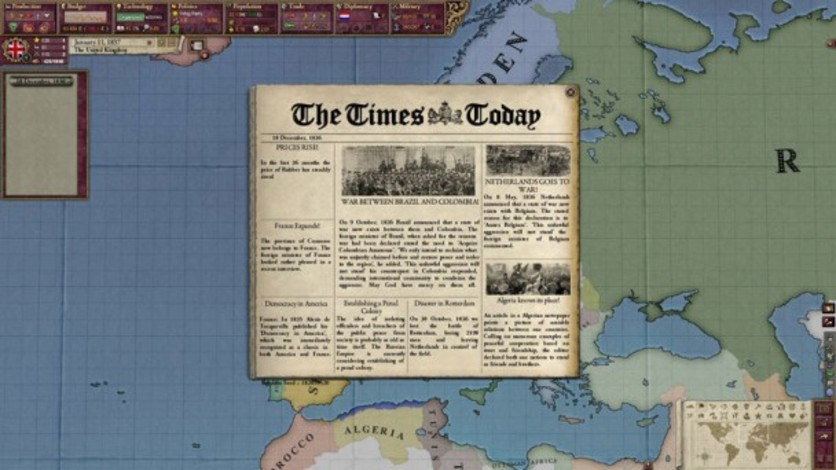 Screenshot 1 - Victoria II: Heart of Darkness