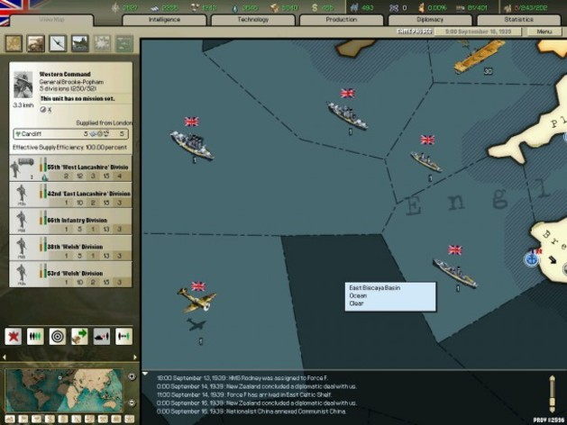 Screenshot 1 - Hearts of Iron 2 Collection