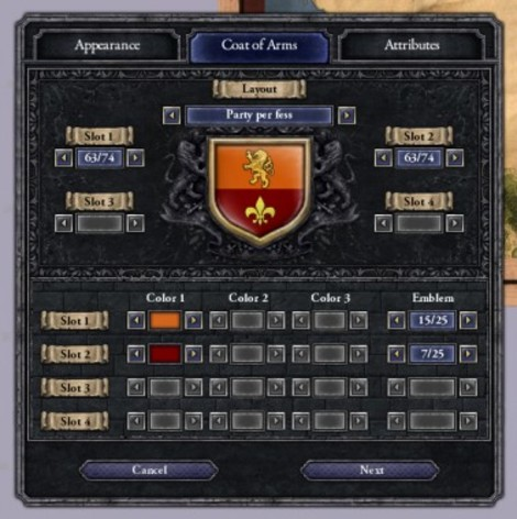 Screenshot 1 - Crusader Kings II: Ruler Designer