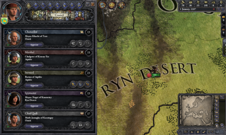 Screenshot 3 - Crusader Kings II: Mongol Faces