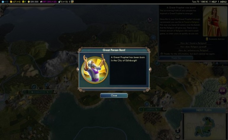 Screenshot 3 - Sid Meier's Civilization V: Gods & Kings