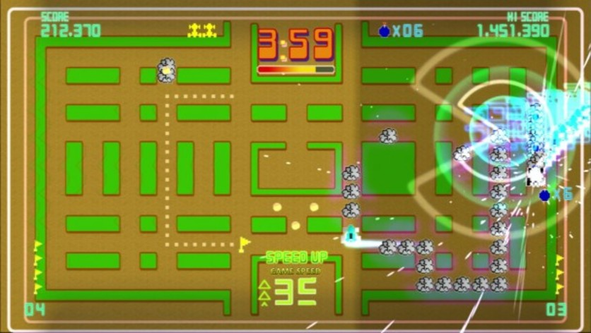 Screenshot 3 - Pac-Man Championship Edition DX+: Rally-X Skin