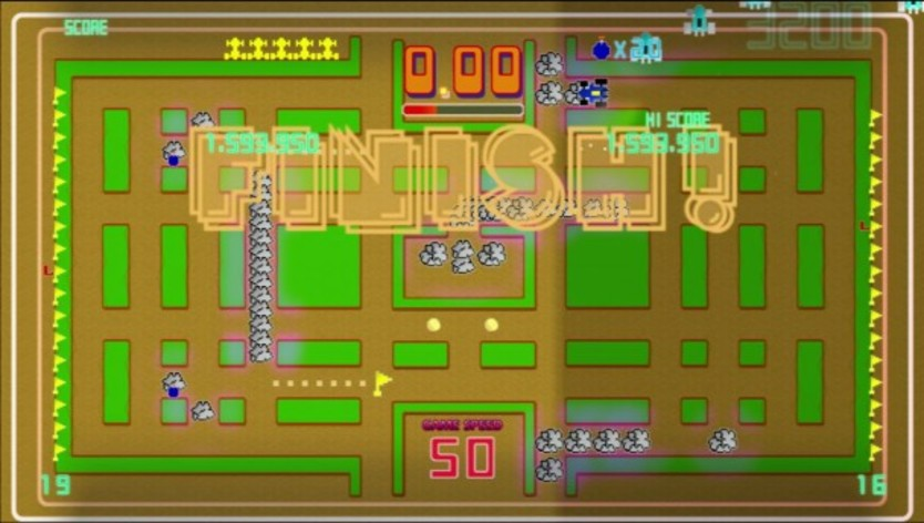 Screenshot 1 - Pac-Man Championship Edition DX+: Rally-X Skin