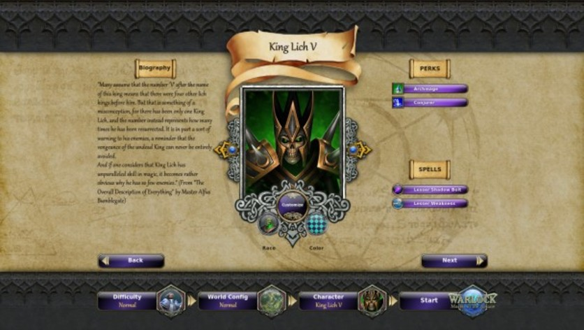 Screenshot 1 - Warlock: Master of the Arcane