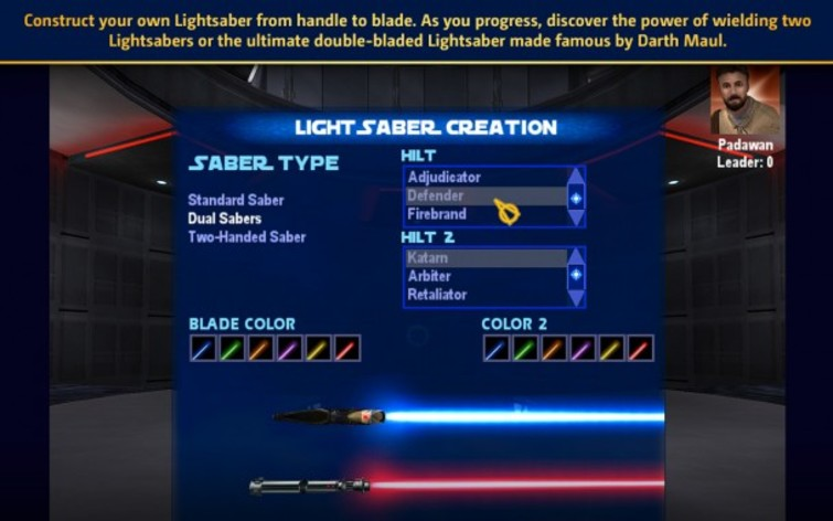 Screenshot 1 - Star Wars: Jedi Knight: Jedi Academy (Mac)