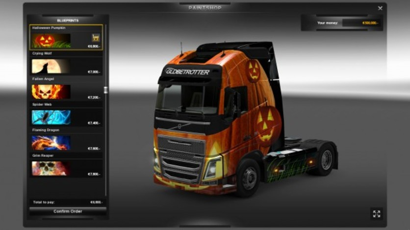 Screenshot 1 - Euro Truck Simulator 2: Halloween Paint Jobs Pack