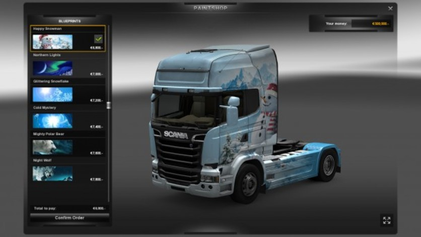Screenshot 5 - Euro Truck Simulator 2: Ice Cold Paint Jobs Pack