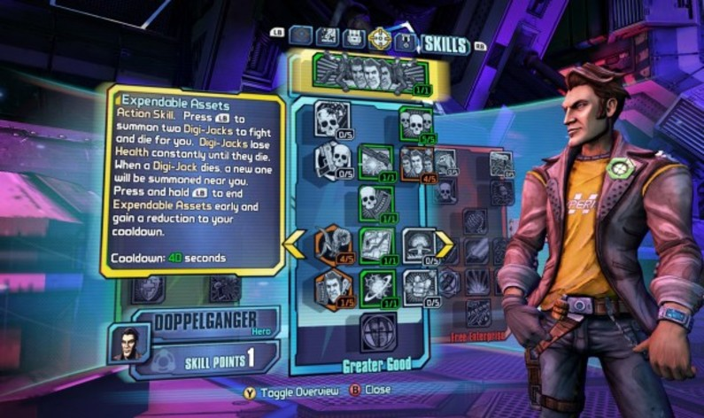 Screenshot 1 - Borderlands: The Pre-Sequel - Handsome Jack Doppelganger Pack
