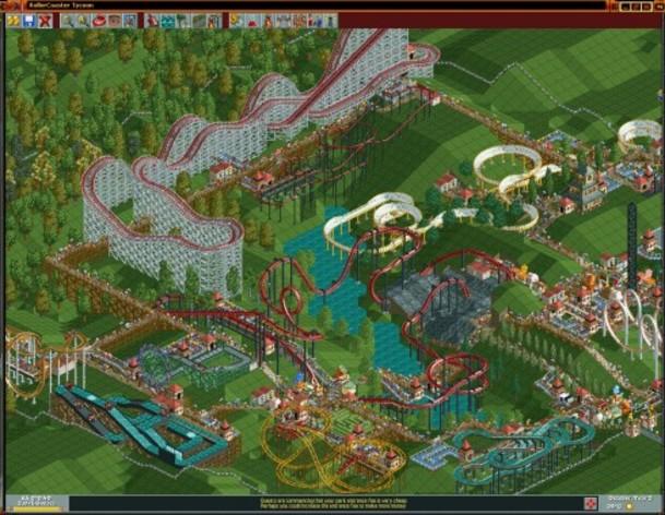 Screenshot 3 - RollerCoaster Tycoon Deluxe