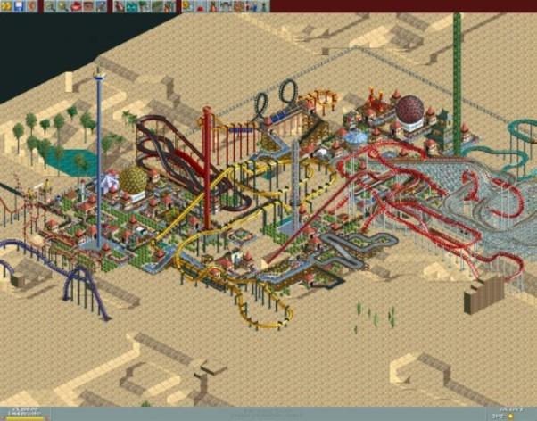 Screenshot 4 - RollerCoaster Tycoon Deluxe