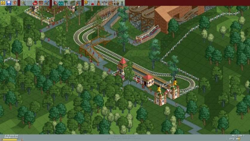Screenshot 1 - RollerCoaster Tycoon Deluxe
