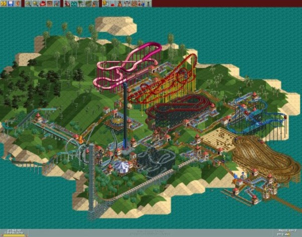 Screenshot 2 - RollerCoaster Tycoon Deluxe