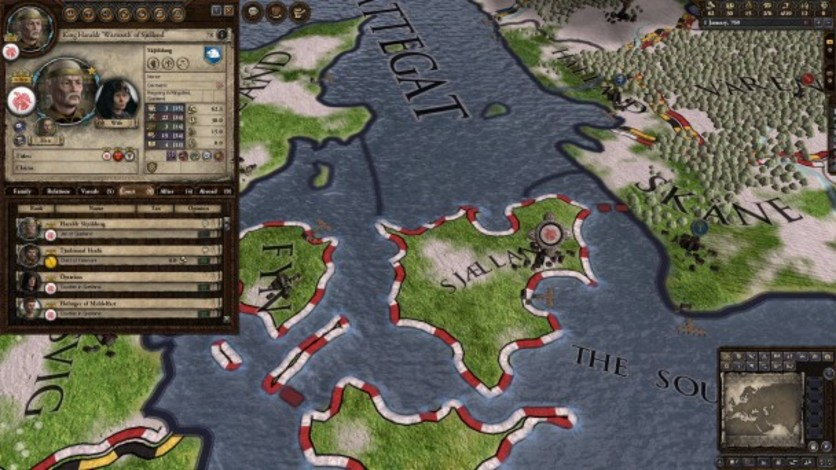Screenshot 2 - Crusader Kings II: Dynasty Shields Charlemagne