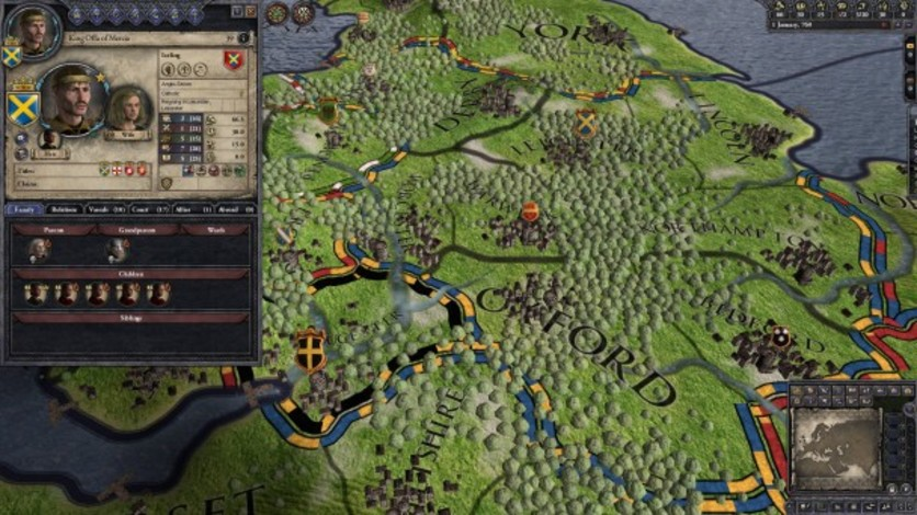Screenshot 1 - Crusader Kings II: Dynasty Shields Charlemagne