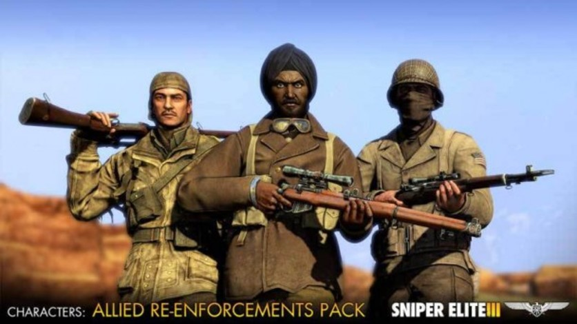 Screenshot 1 - Sniper Elite III - Allied Reinforcements Outfit Pack