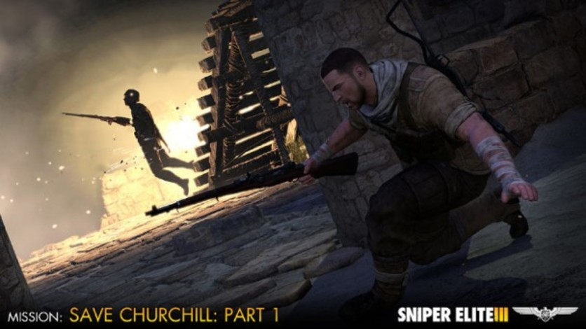 Screenshot 1 - Sniper Elite III - Save Churchill Part 1: In Shadows