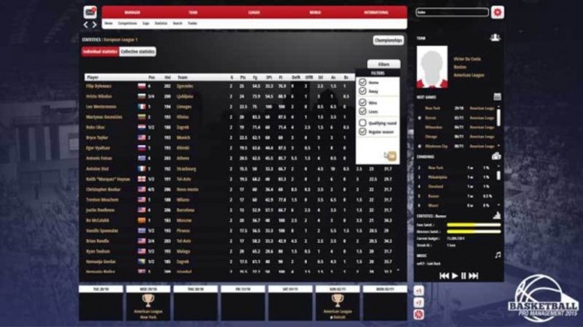 Screenshot 4 - Basketball Pro Management 2015