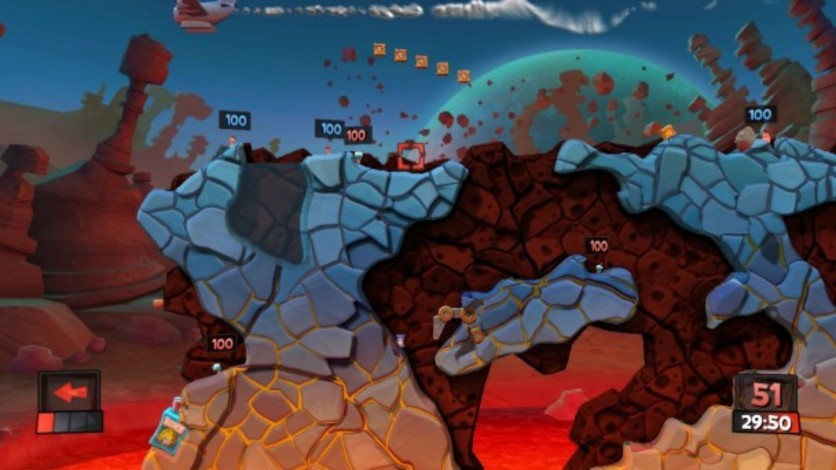 Screenshot 2 - Worms Revolution: Mars Pack
