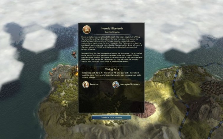 Screenshot 3 - Sid Meier's Civilization V: Civilization and Scenario Pack - Denmark (MAC)