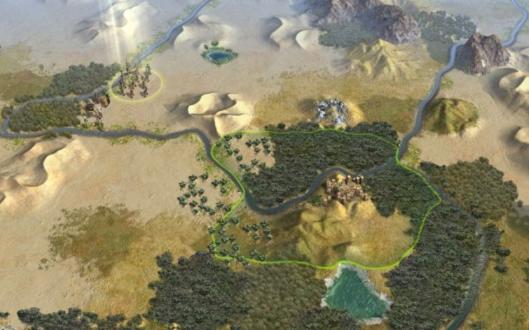 Screenshot 1 - Sid Meier's Civilization V: Explorer's Map Pack (MAC)