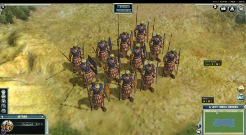 Screenshot 1 - Sid Meier's Civilization V: Scenario Pack – Wonders of the Ancient World (MAC)