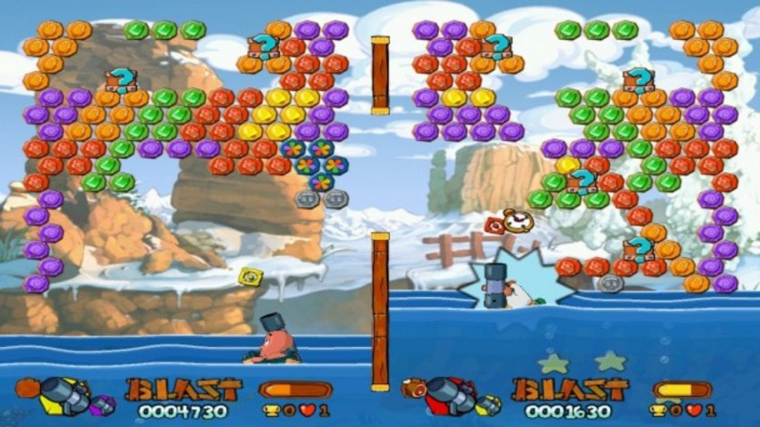 Screenshot 1 - Worms Blast