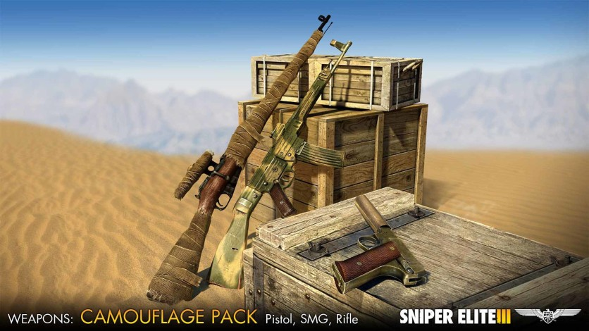 Screenshot 1 - Sniper Elite III - Camouflage Weapons Pack