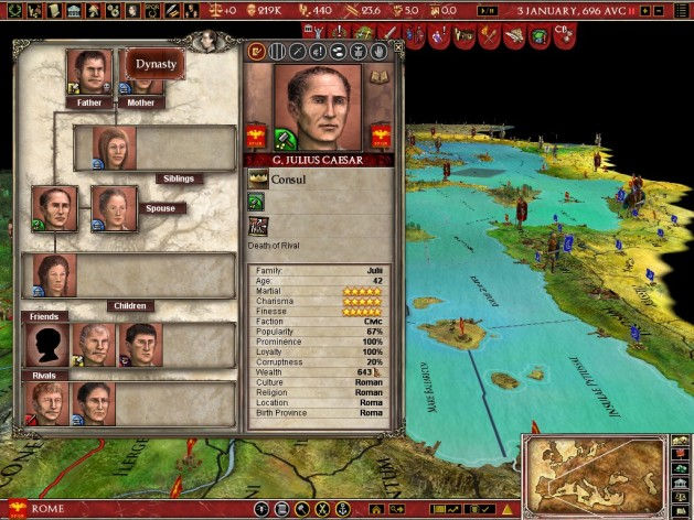 Screenshot 1 - Europa Universalis: Rome - Gold Edition