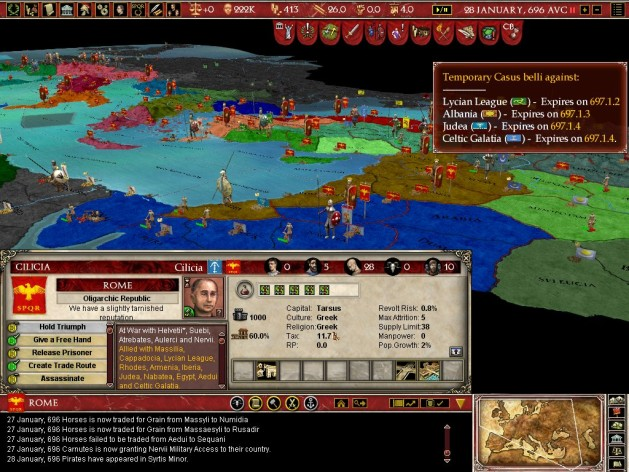 Screenshot 2 - Europa Universalis: Rome - Gold Edition