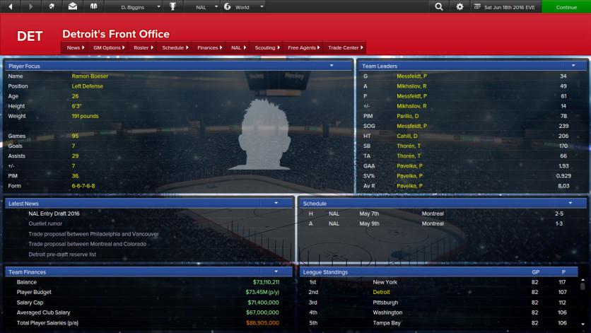 Screenshot 2 - Eastside Hockey Manager
