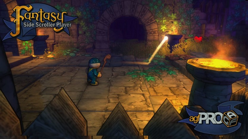 Screenshot 1 - Axis Game Factory's AGFPRO Fantasy Side-Scroller Player