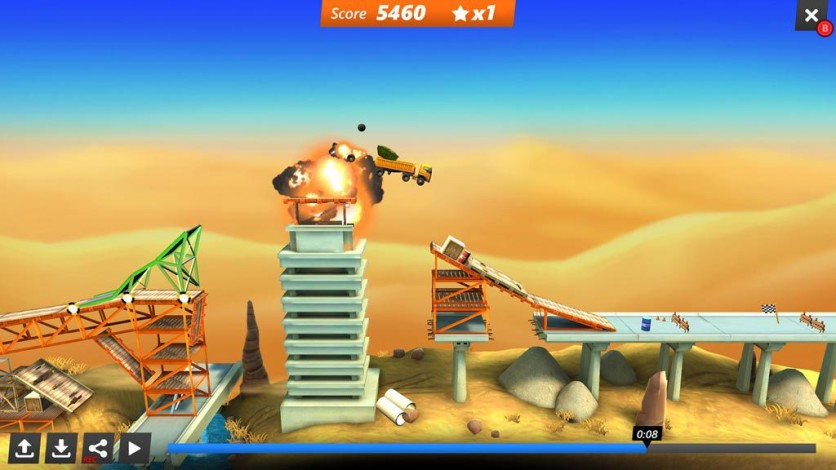 Screenshot 5 - Bridge Constructor Stunts