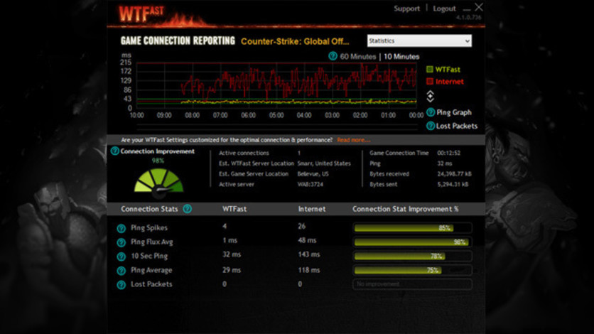 Screenshot 5 - WTFast Advanced - 6 Months