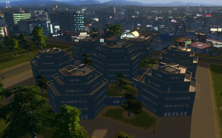 Screenshot 4 - Cities: Skylines - Content Creator Pack: High-Tech Buildings