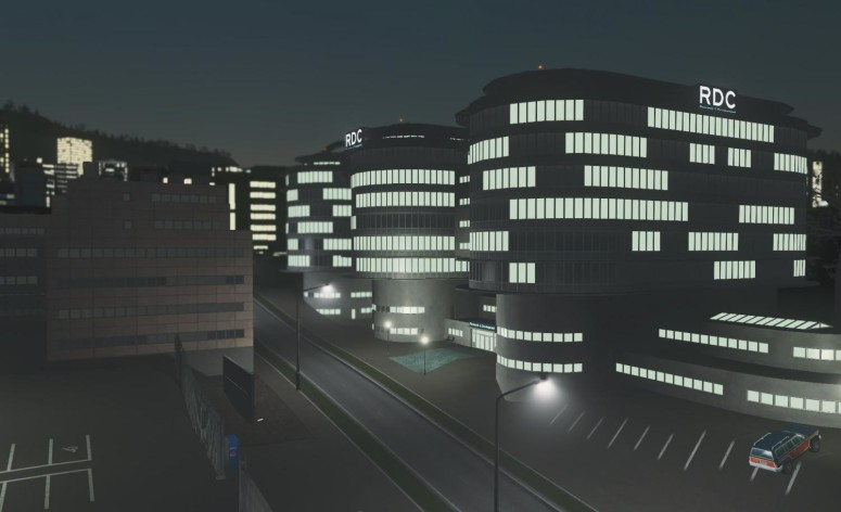 Screenshot 10 - Cities: Skylines - Content Creator Pack: High-Tech Buildings