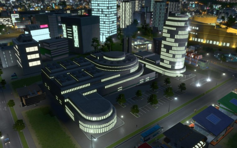 Screenshot 1 - Cities: Skylines - Content Creator Pack: High-Tech Buildings