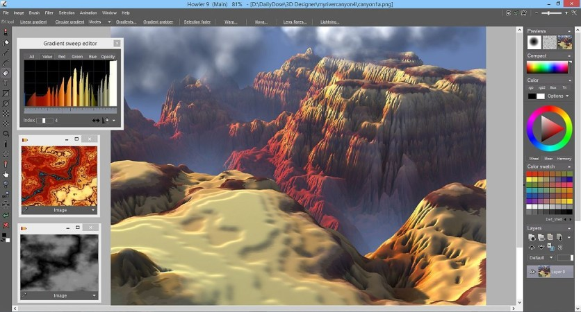 Screenshot 8 - PD Howler 9.6 Digital Painter and Visual FX box