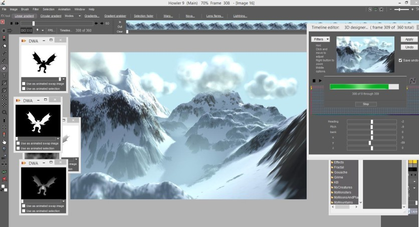 Screenshot 11 - PD Howler 9.6 Digital Painter and Visual FX box