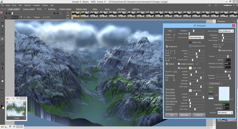 Screenshot 2 - PD Howler 9.6 Digital Painter and Visual FX box