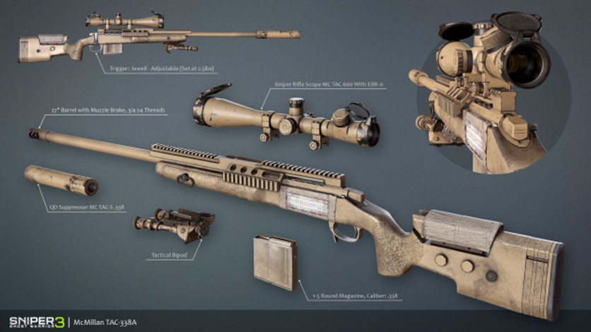 Screenshot 2 - Sniper Ghost Warrior 3 - Sniper Rifle McMillan TAC-338A