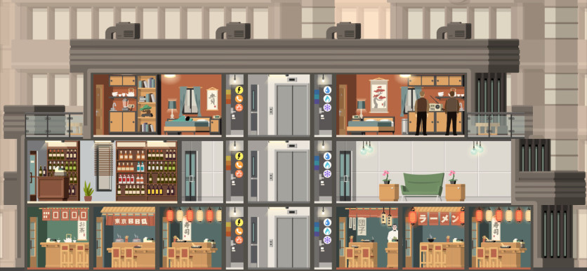 Screenshot 1 - Project Highrise: Tokyo Towers