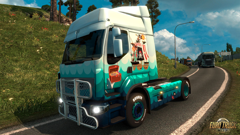 Screenshot 7 - Euro Truck Simulator 2 - Pirate Paint Jobs Pack