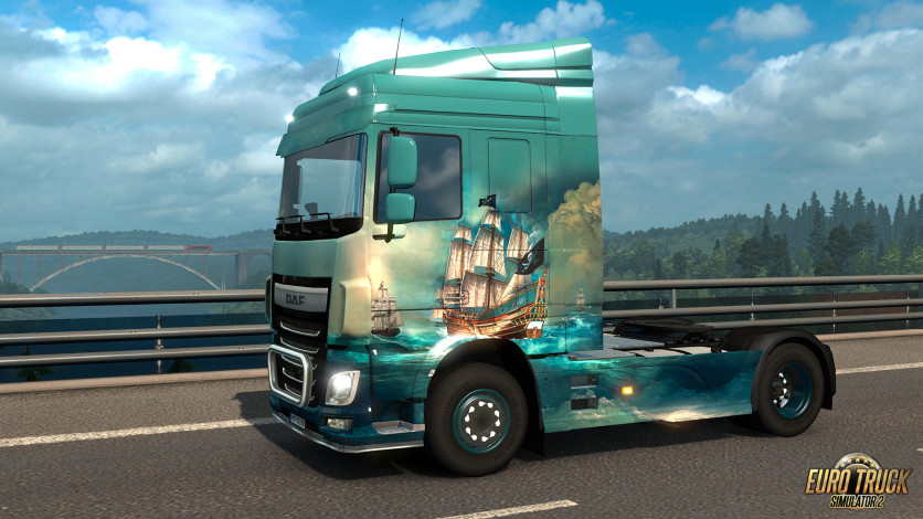 Screenshot 2 - Euro Truck Simulator 2 - Pirate Paint Jobs Pack