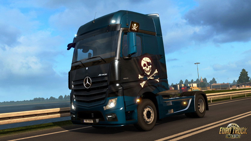 Screenshot 1 - Euro Truck Simulator 2 - Pirate Paint Jobs Pack