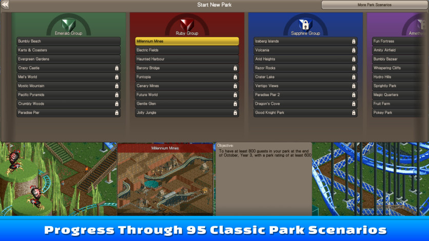 Screenshot 3 - RollerCoaster Tycoon Classic