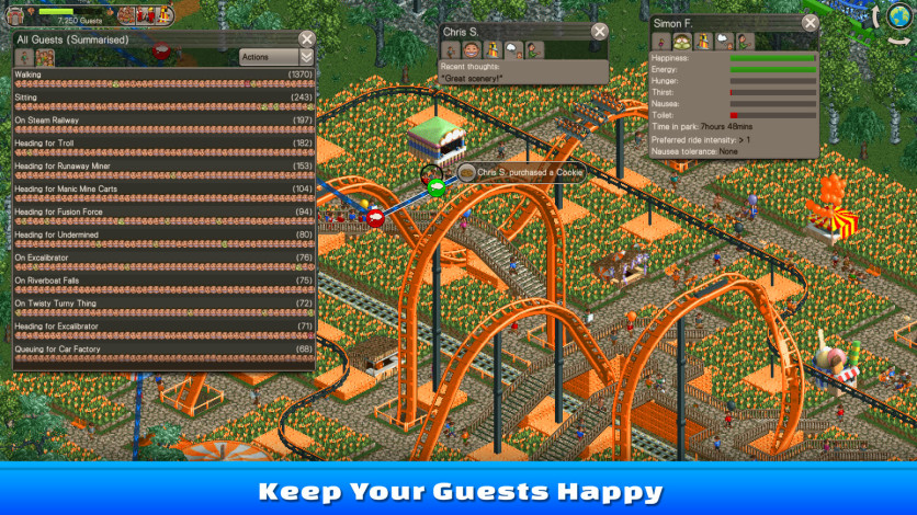 Screenshot 2 - RollerCoaster Tycoon Classic