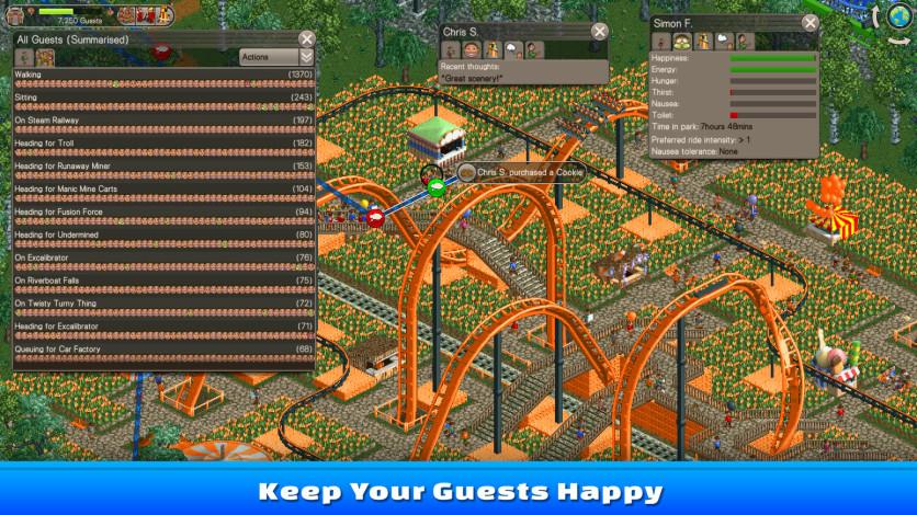 Screenshot 2 - RollerCoaster Tycoon Classic